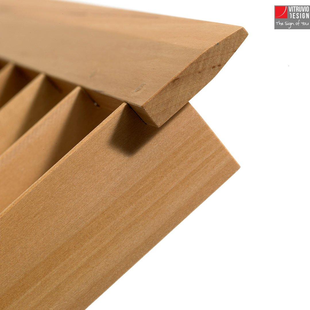 Leggio di design in legno made in italy vitruvio design - Oggetti di design in legno ...