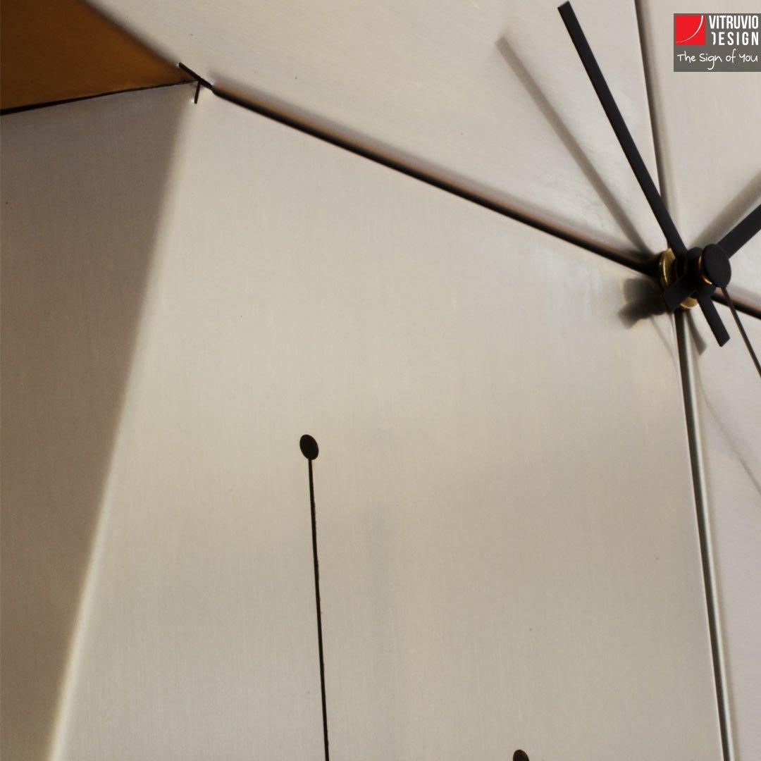 Orologio da parete made in italy vitruvio design - Orologio design parete ...