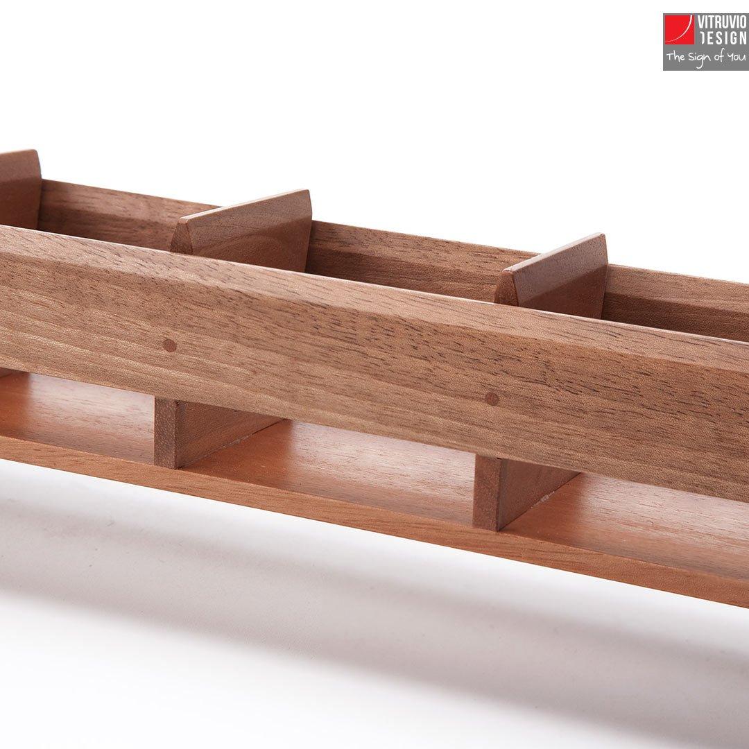 Wooden tray for espresso cups made in italy vitruvio - Porta bicchieri ...
