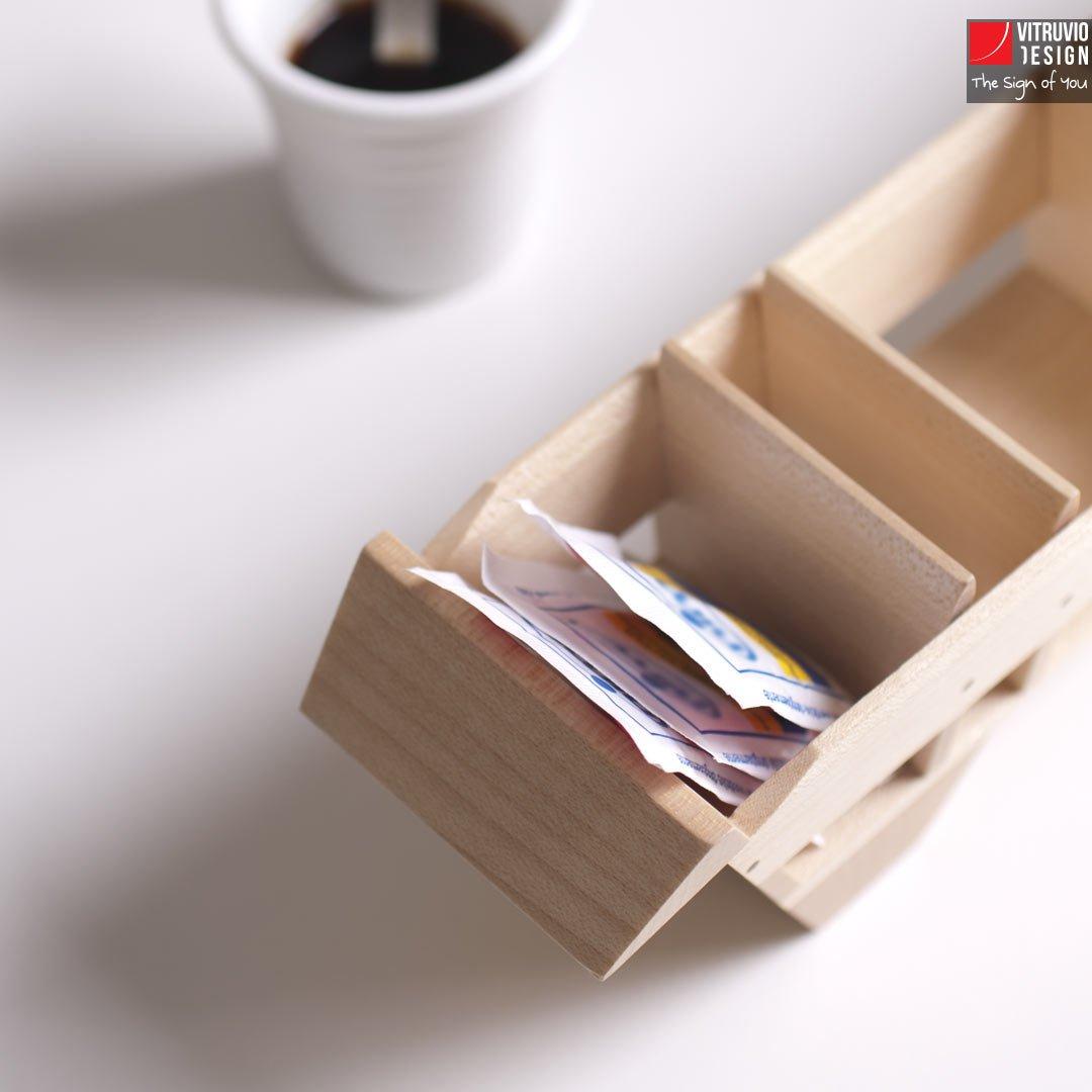 Wooden Tray For Espresso Cups Made In Italy Vitruvio