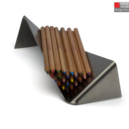 Stainless steel pen holder | Made in Italy
