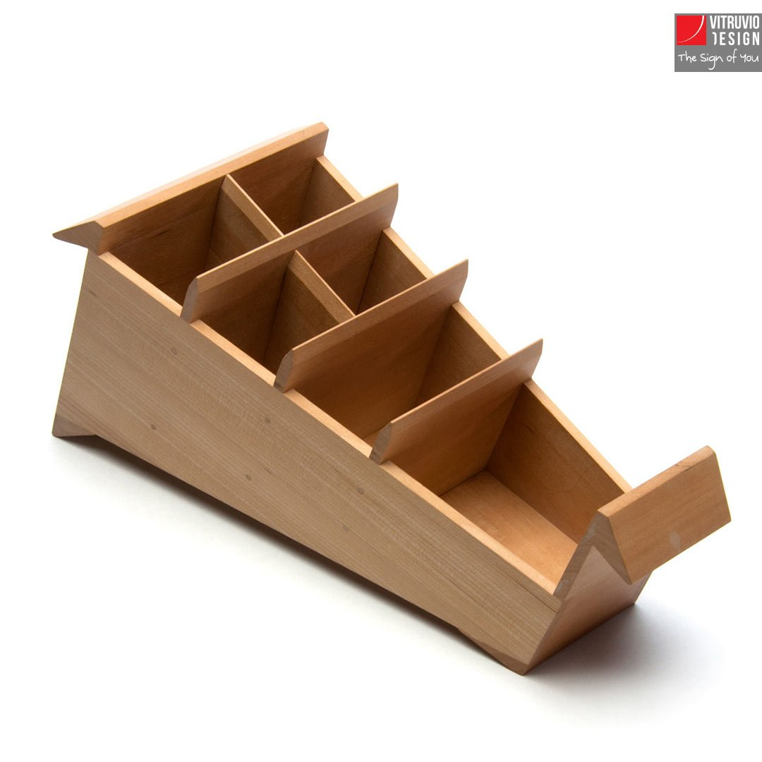 wooden pencil holder made in italy vitruvio design. Black Bedroom Furniture Sets. Home Design Ideas