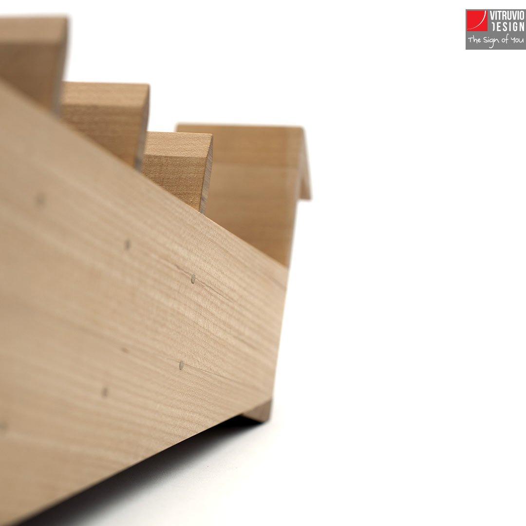 Portapenne di design in legno Made in Italy