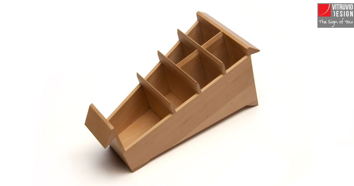 Wooden Pen Stand Designs : Wooden pencil holder made in italy vitruvio design