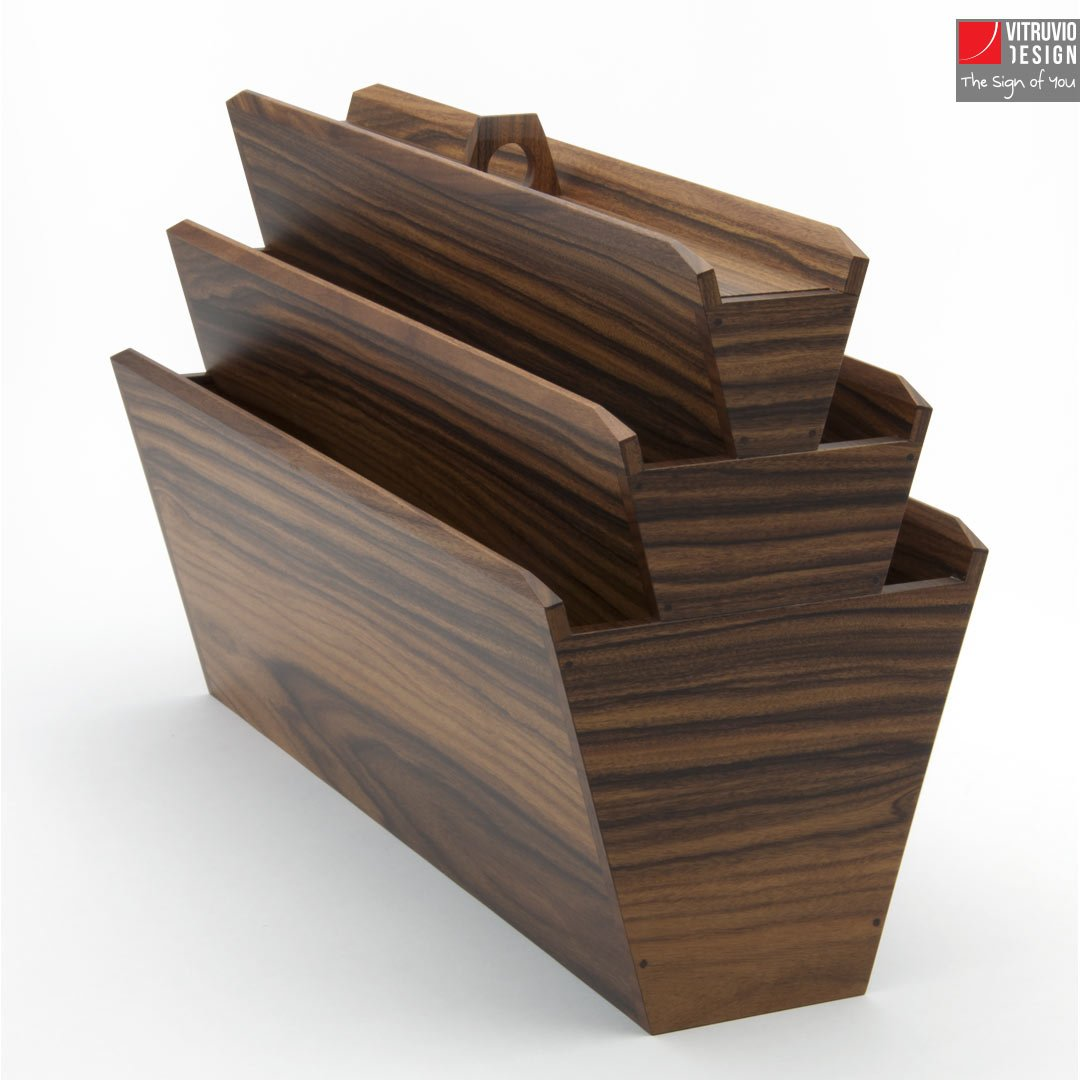 Portariviste di design in legno| Made in Italy | Vitruvio ...