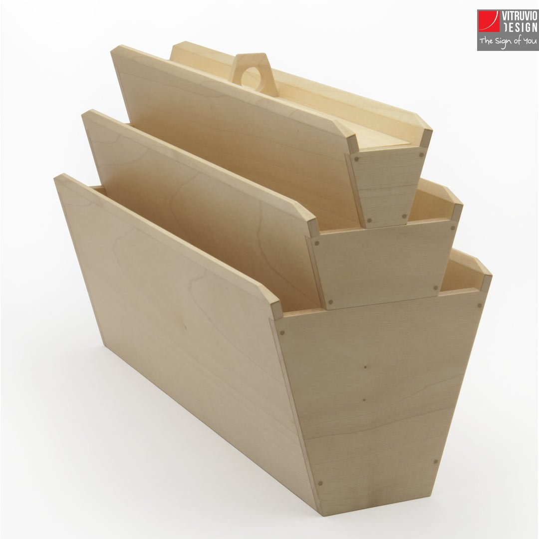 Wooden magazine rack | Made in Italy