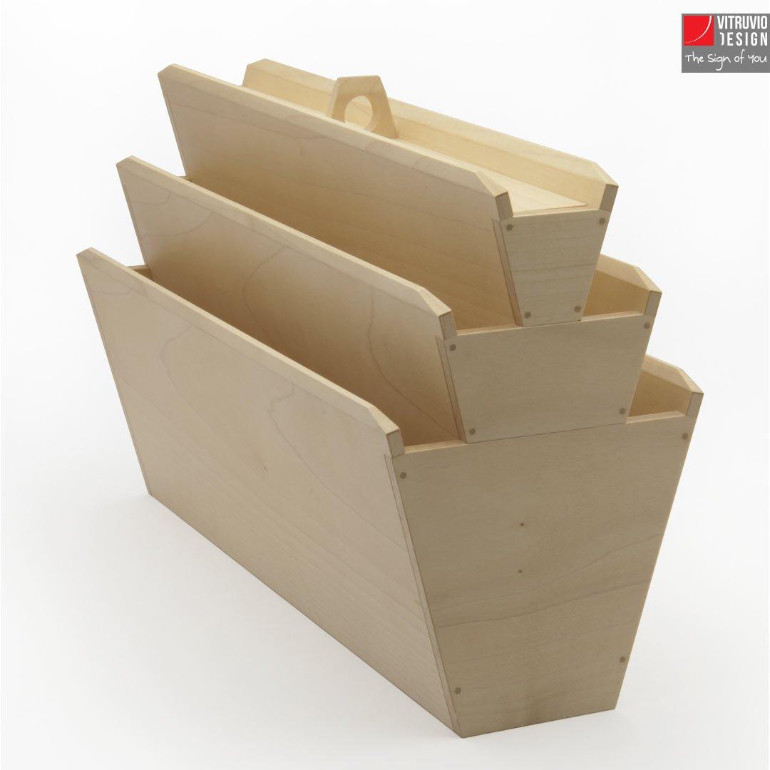 Portariviste di design in legno made in italy vitruvio - Oggetti di design in legno ...
