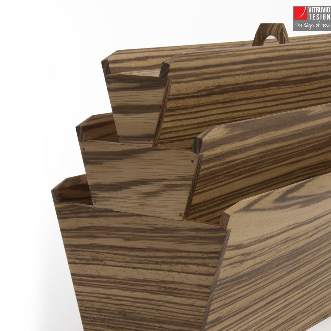 Portariviste Di Design In Legno Made In Italy Vitruvio Design
