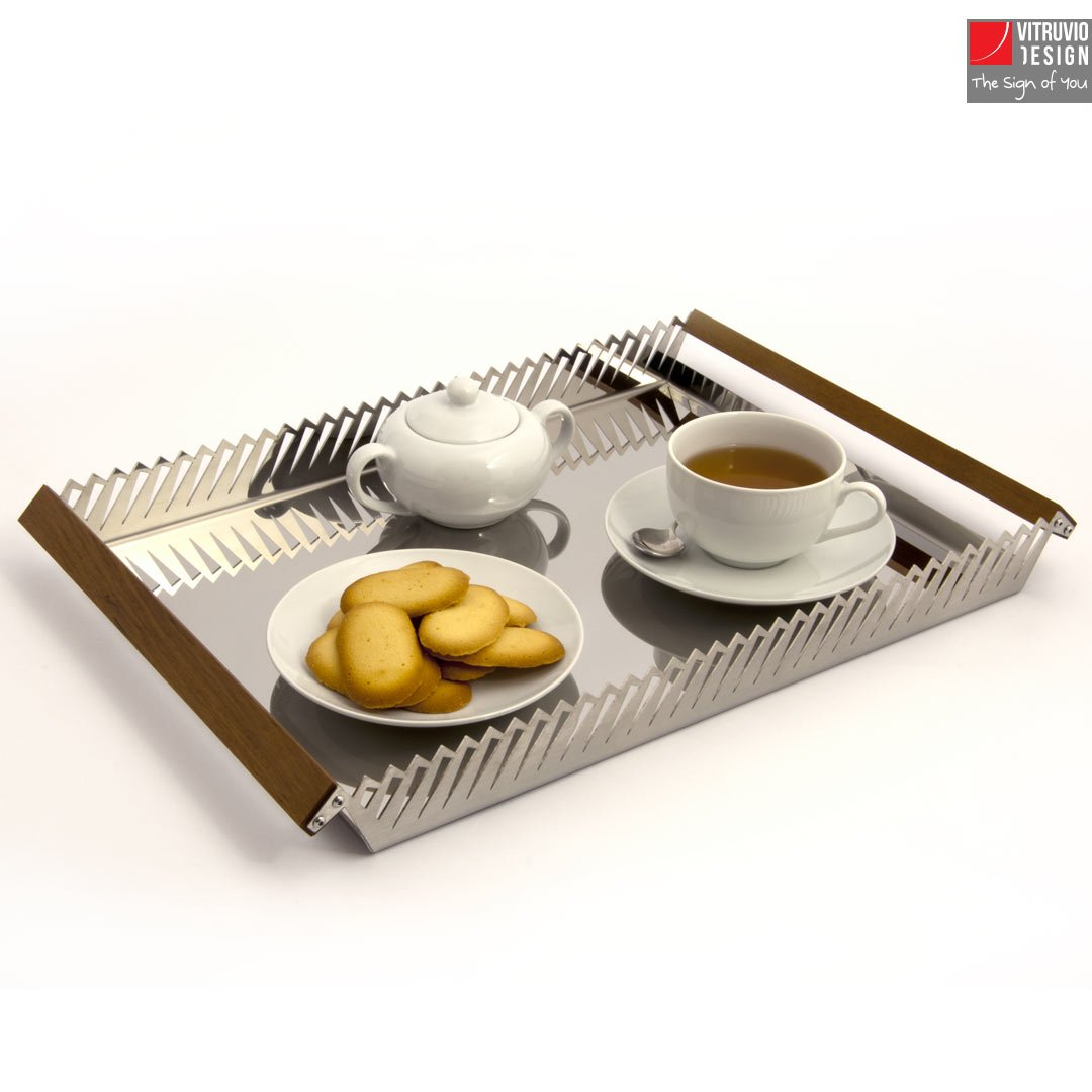 Stainless steel serving tray | Made in Italy