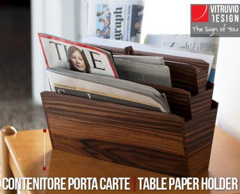 Portariviste di design in legno Made in Italy