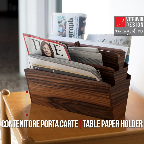 Portariviste di design in legno Made in Italy