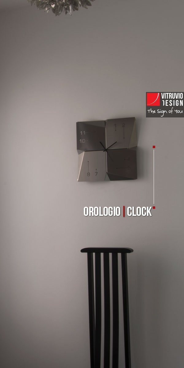 Stainless steel wall clock | Made in Italy