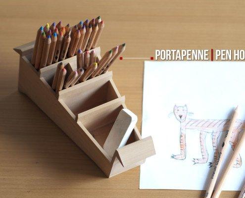 Beautiful pavone portapenne di design in legno made in - Portapenne da scrivania ...