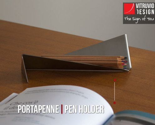 Portapenne di design in acciaio – Made in Italy