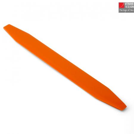 Segnalibro di design in pietra acrilica arancione – Made in Italy