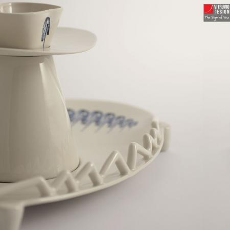 Alzata in porcellana di Capodimonte   Made in Italy