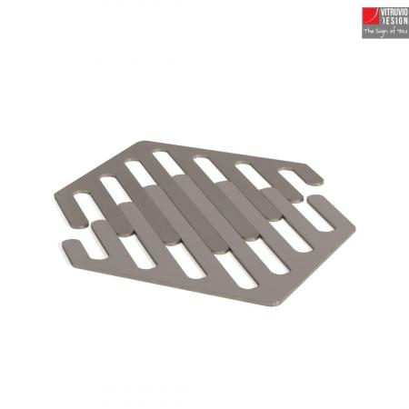 Vitruvio Design - sottobicchieri in acciaio Steel coaster