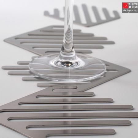 Sottobicchieri di design in acciaio | Made in Italy