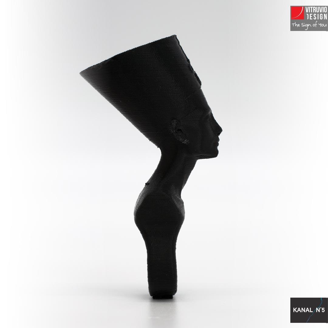 Vitruvio Design - anello Nefertiti Abs nero - Nefertiti black ABS ring