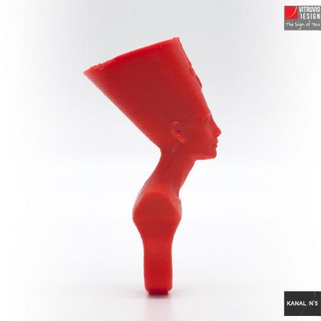 Vitruvio Design - anello Nefertiti Abs rosso - Nefertiti red ABS ring