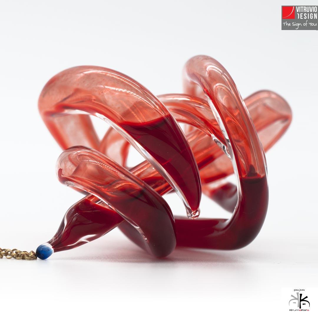 Vitruvio Design - W-Heart Glass Pendant - Ciondolo W-Heart Vetro