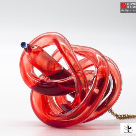 Vitruvio Design - Ciondolo W-Heart Vetro - W-Heart Glass Pendant