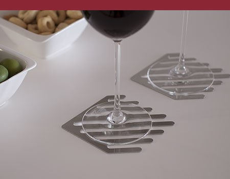 Milano | Stainless steel coasters