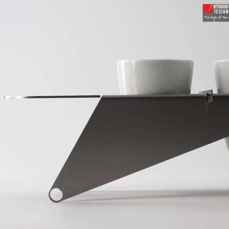 Vassoio da caffè in acciaio di design   Made in italy