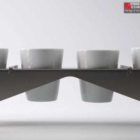 Vassoio da caffè in acciaio di design | Made in italy