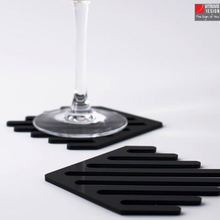 Black plex coaster | Made in Italy